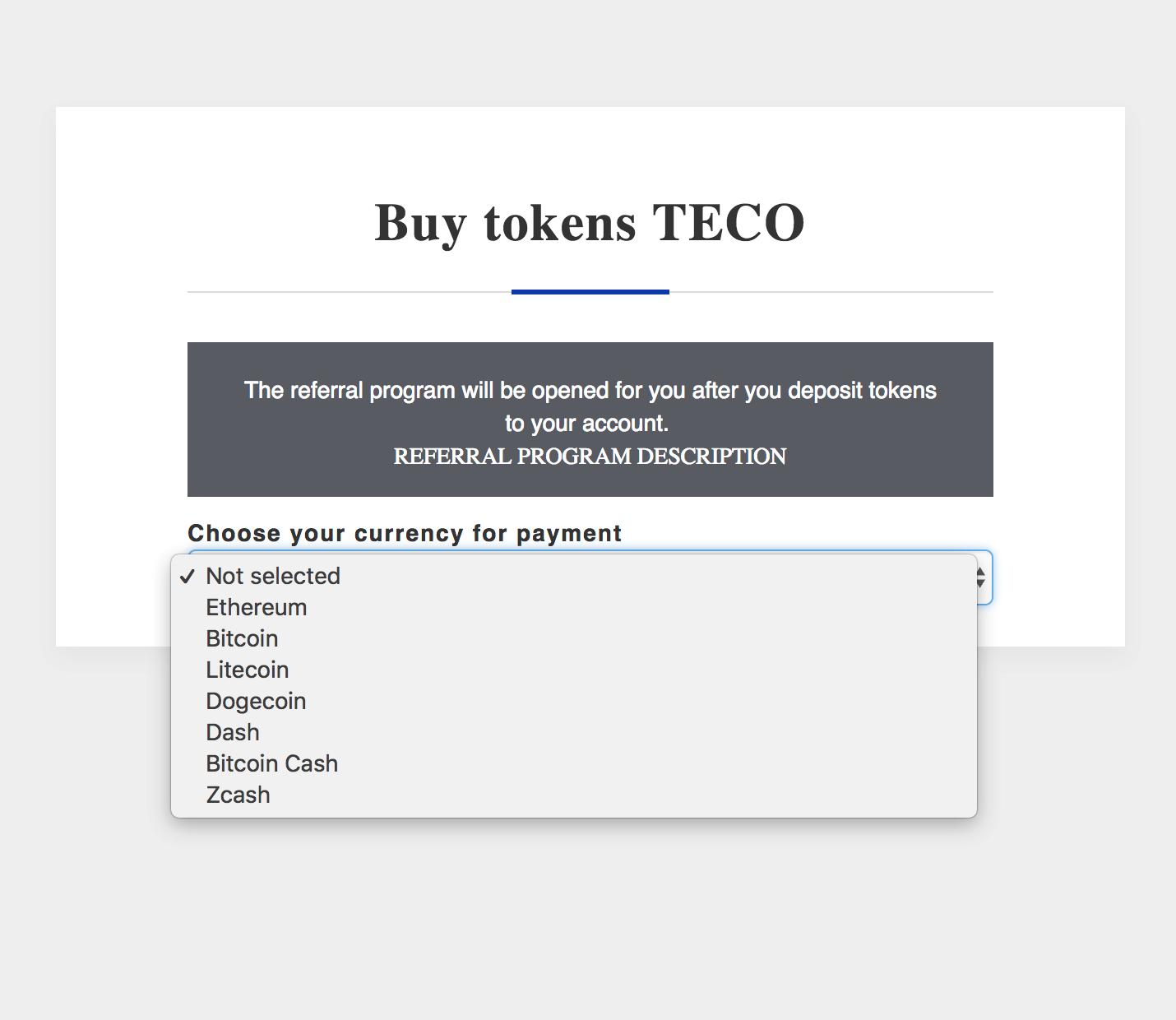 Ayrıca ico-tyreco adresinde bulunan yatırımcının kişisel hesabında satın alarak TECO tokenlerin sahibi olabilirsiniz