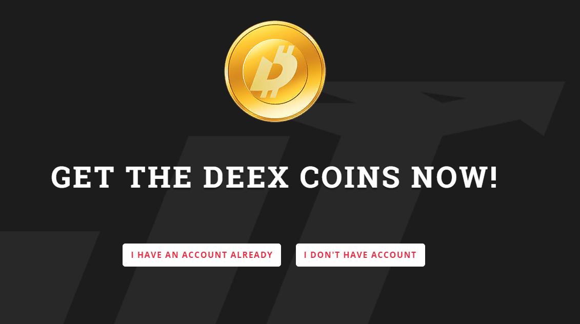 Официальный кран криптовалюты DEEX