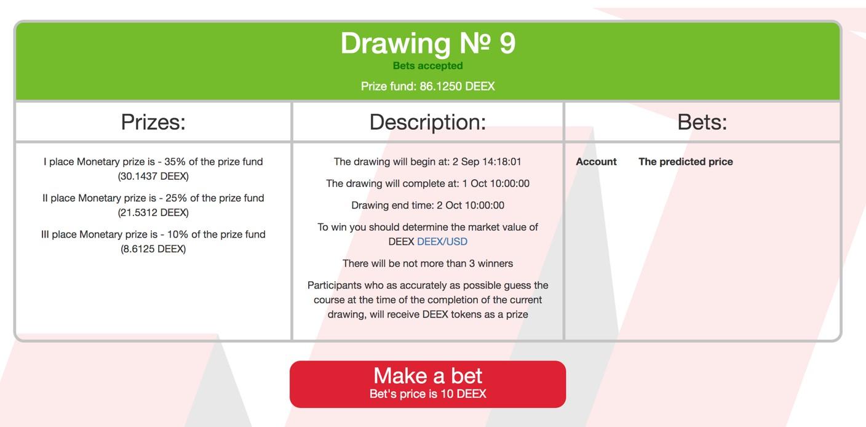 Select Make a bet option