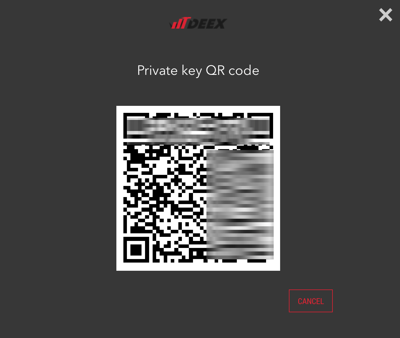 The following QR-code is the code to synchronize your wallet